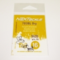 NEXTackle 703 BL Dry Fly Hooks size 16